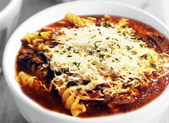Elk Lasagna Soup….. Um Um Good!