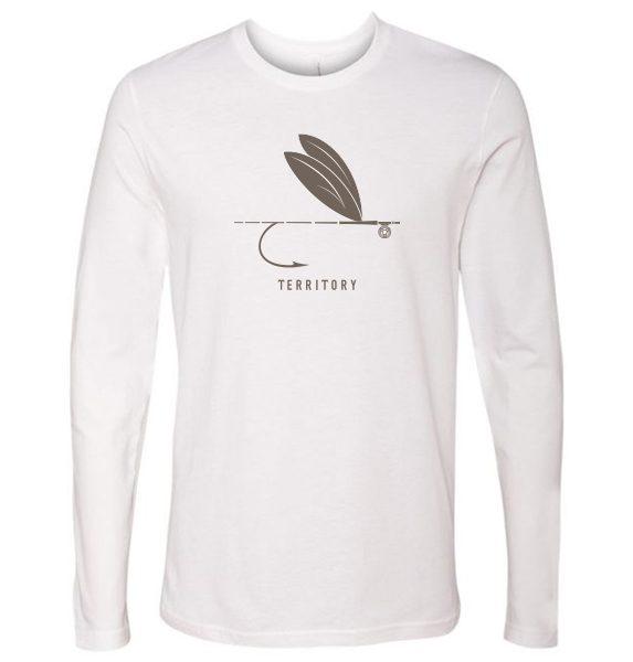 Solid Flyshirt LS White